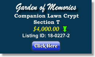 companion lawn crypt for sale 4k section t garden of memories tampa - Garden Of Memories Tampa